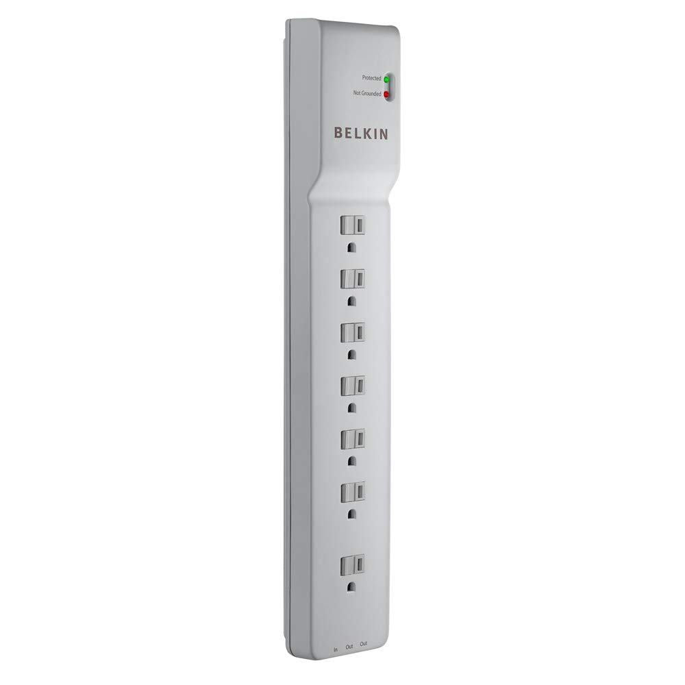 BELKIN 7 OUTLET POWER BAR WITH 12' CORD