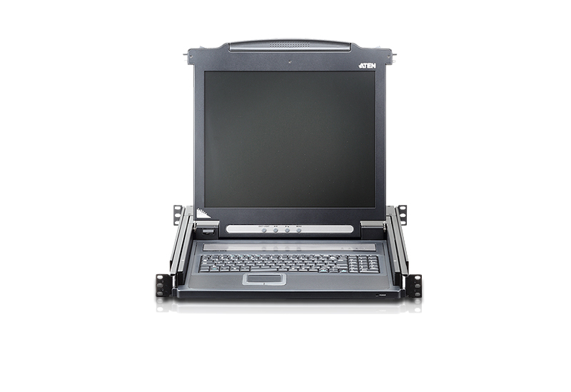 "ATEN PS/2 1U 17"" LCD KVM CONSOLE DRAWER *NO SECOND CONSOLE*"