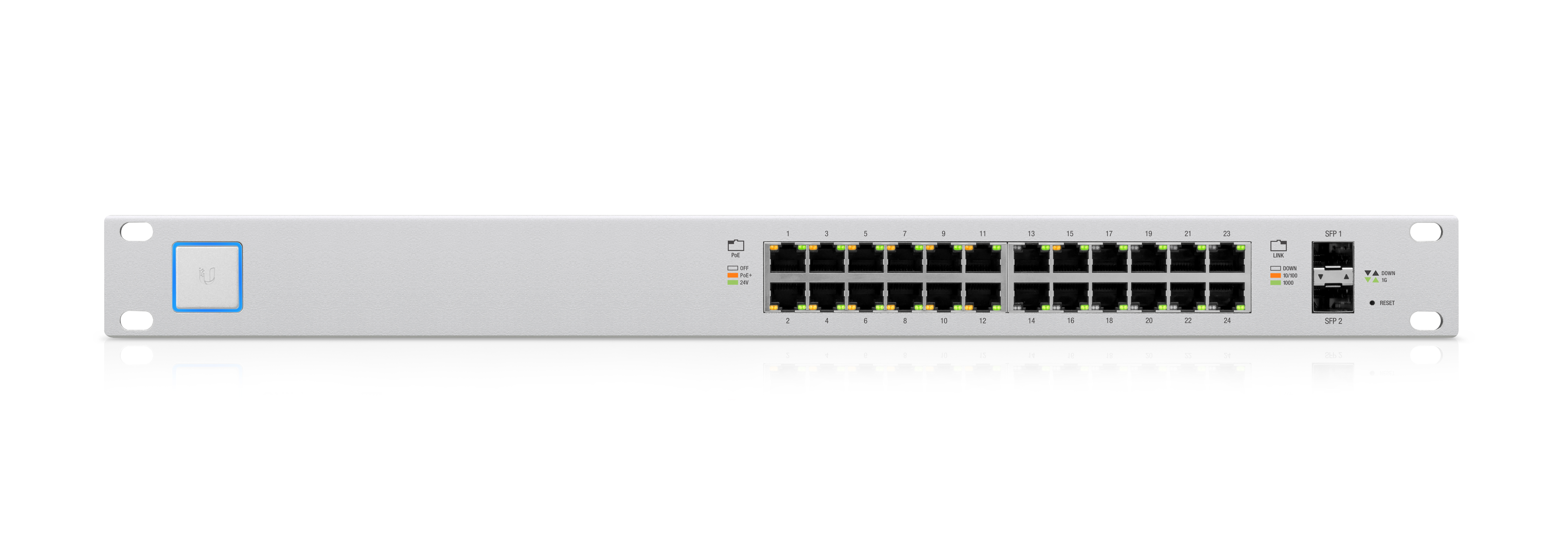 UBIQUITI UNIFI 24-PORT/2 SFP POE+ SWITCH (250W)