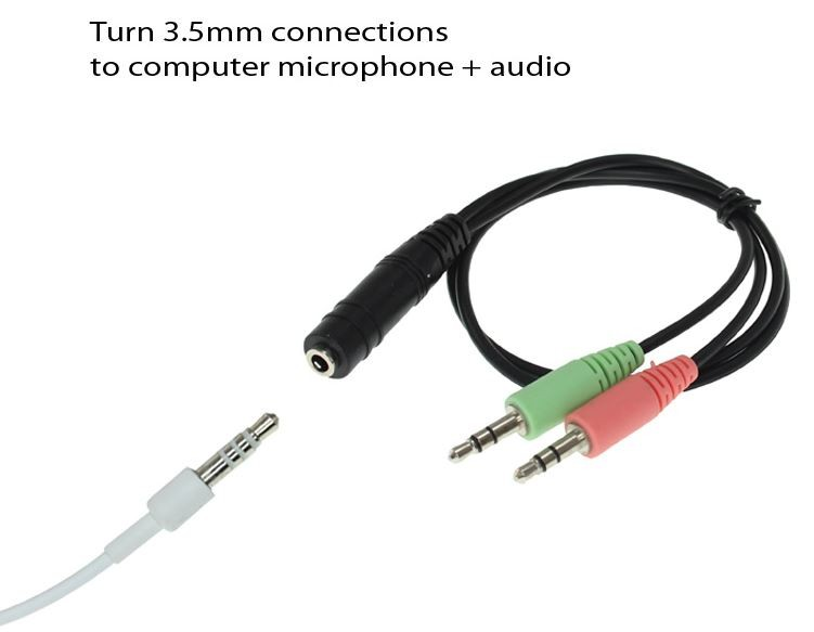 3.5MM 4C STEREO F/M-M 6 INCH Y-CABLE