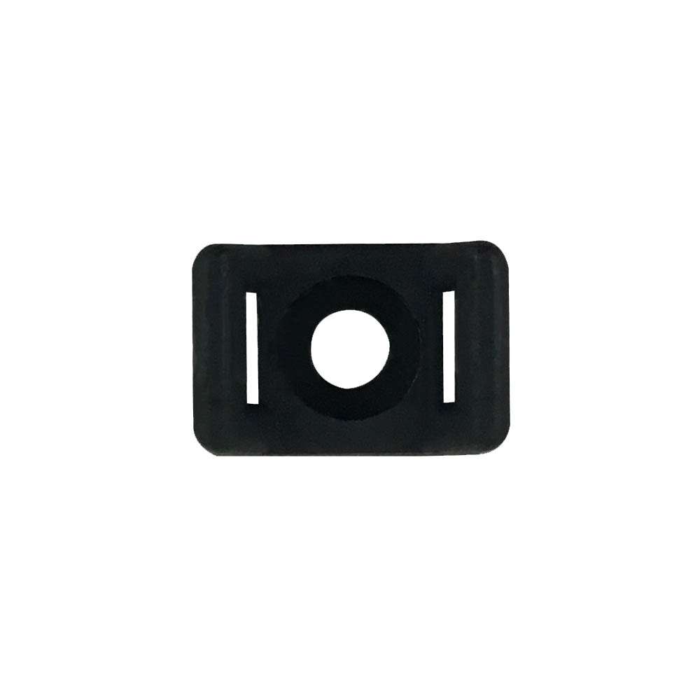 CABLE TIE WALL-MOUNT ANCHOR SCREW TYPE BLACK (100/BAG)