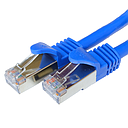 [CCA001BL] CAT6A BLUE F/UTP SHIELDED NETWORK PATCH CABLE (1')