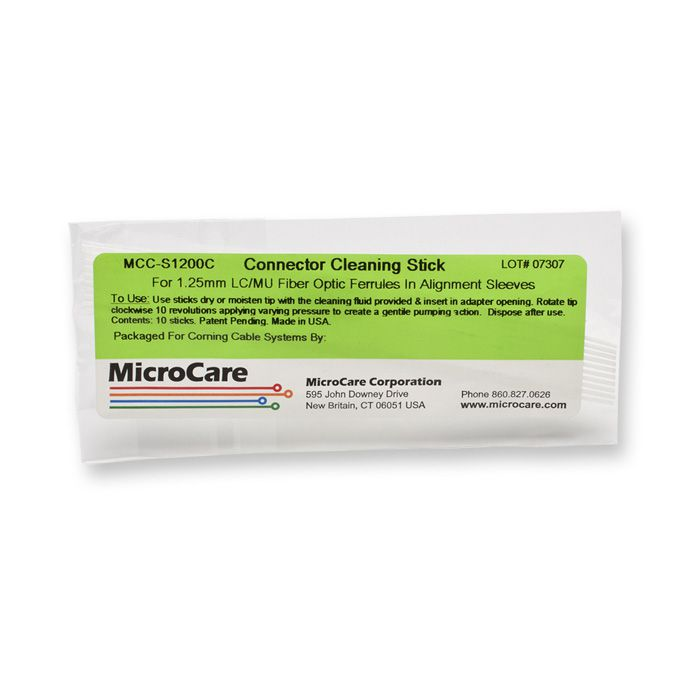 CORNING FIBER OPTIC CLEANING STICKS 1.25 MM 10/PACK