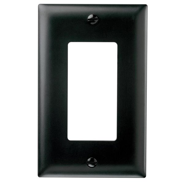 1-GANG DECORA WALL PLATE - BLACK