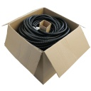 "[HTCTP10B] HELLERMANN 1"" SPLIT WIRE CONVOLUTED LOOM BLACK - 300' (BULK SPOOL)"