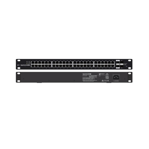 [UBES48500] UBIQUITI EDGESWITCH 48 PORT/2 SFP/2 SFP+ POE+ SWITCH (500W)
