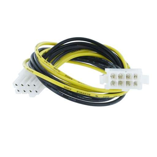 "[MC442] P4 8-PIN (2X4-PIN) M/F 12"" POWER EXTENSION CABLE"