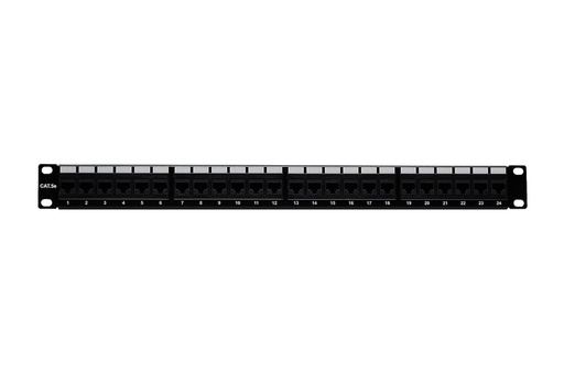 [PP4524] RJ45 CAT5E 24-PORT LOADED PATCH PANEL (110 TYPE)