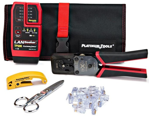 [PT90148] PLATINUM TOOLS EXO ezEX-RJ45 TERMINATION AND TESTER KIT