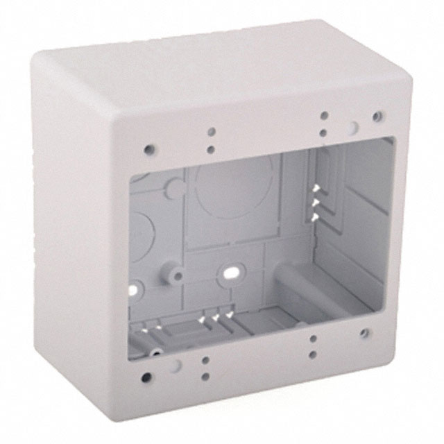 "[HTJBD2] JUNCTION BOX DUAL GANG 2.77"" DEPTH-WHITE"