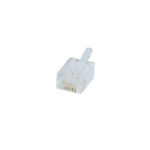 [PN489] RJ12 MMJ/DEC 6P6C OFFSET FLAT-STYLE PHONE CONNECTOR (50/BAG)