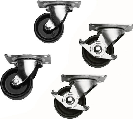 [MA5WL] MIDDLE ATLANTIC LOCKING CASTERS FOR SLIM 5 AND ERK CABINET