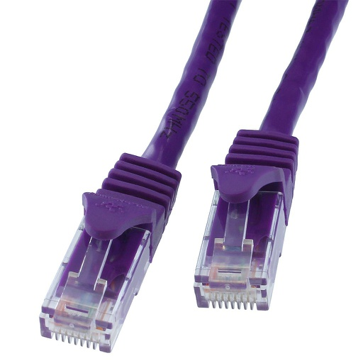 CAT6 PURPLE UTP CROSSOVER NETWORK PATCH CABLE