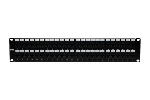 [C64548] RJ45 CAT6 48-PORT LOADED PATCH PANEL (110 TYPE)
