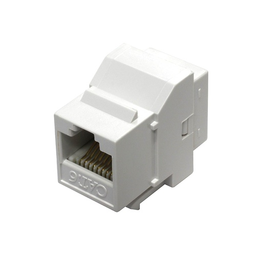 [C6661] RJ45 CAT6 F/F COUPLER WHITE KEYSTONE JACK