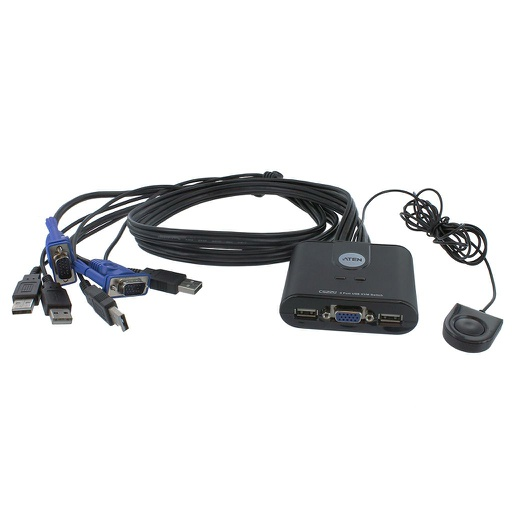 [CS22U] ATEN 2-PORT USB KVM SWITCH W/REMOTE PORT SELECTOR