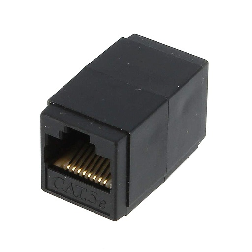 [FA665] RJ45 CAT5E F/F BLACK COUPLER