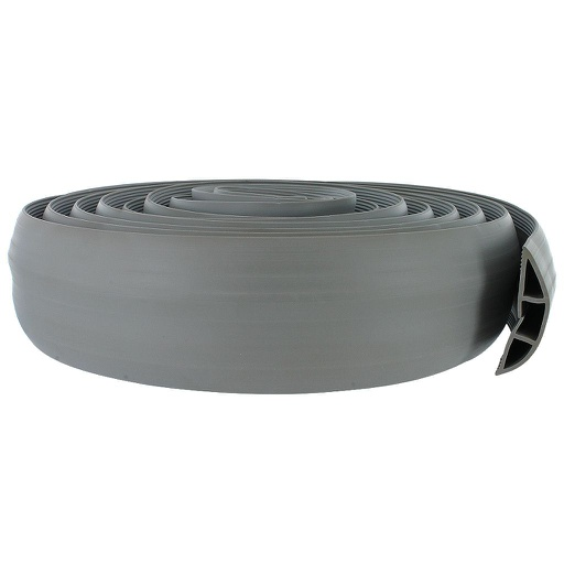 [FCC15G] GREY FLOOR CORD COVER W/ADHESIVE TAPE - 15'