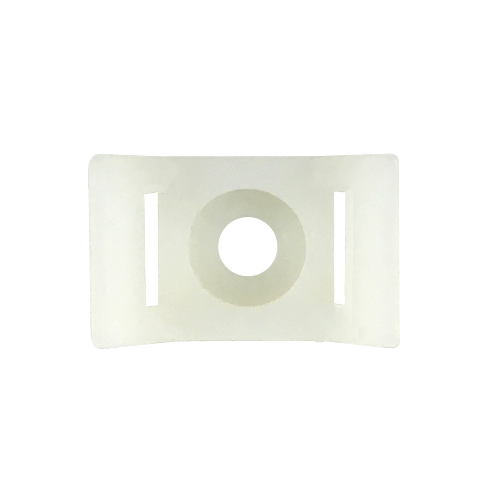 [KSHC2] CABLE TIE WALL-MOUNT ANCHOR SCREW TYPE WHITE (100/BAG)