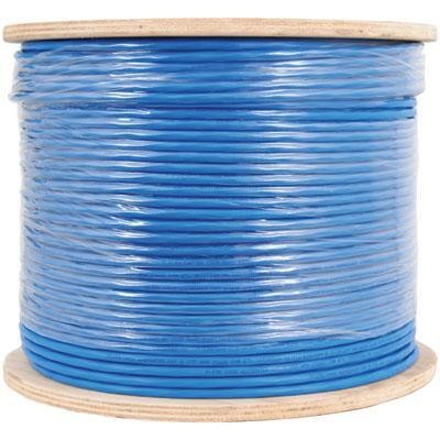 [PW604B] CAT6 1000' BLUE SOLID SHIELDED F/UTP PLENUM NETWORK BULK CABLE (FT6/CMP)