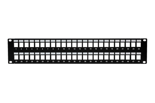 [NP4548] 48-PORT UNLOADED KEYSTONE PATCH PANEL
