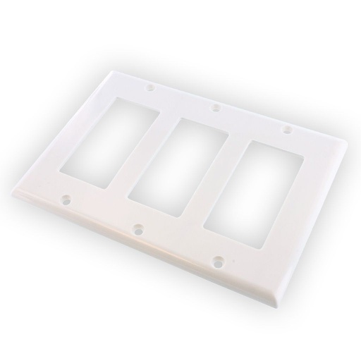 [WP3GBD] 3-GANG DECORA WALL PLATE - WHITE