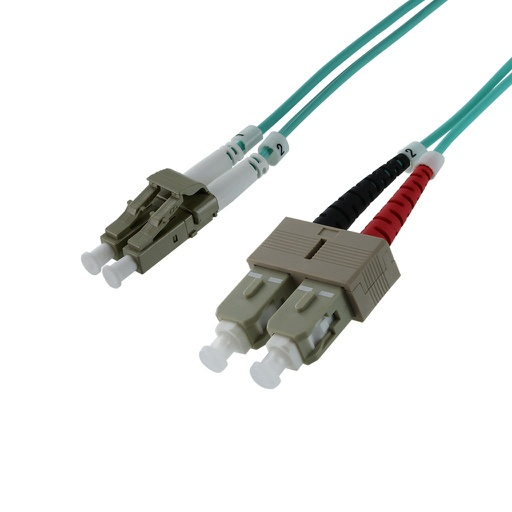 LC-SC MM DUPLEX 50/125 10G OM3 LASER OPTIMIZED CABLE