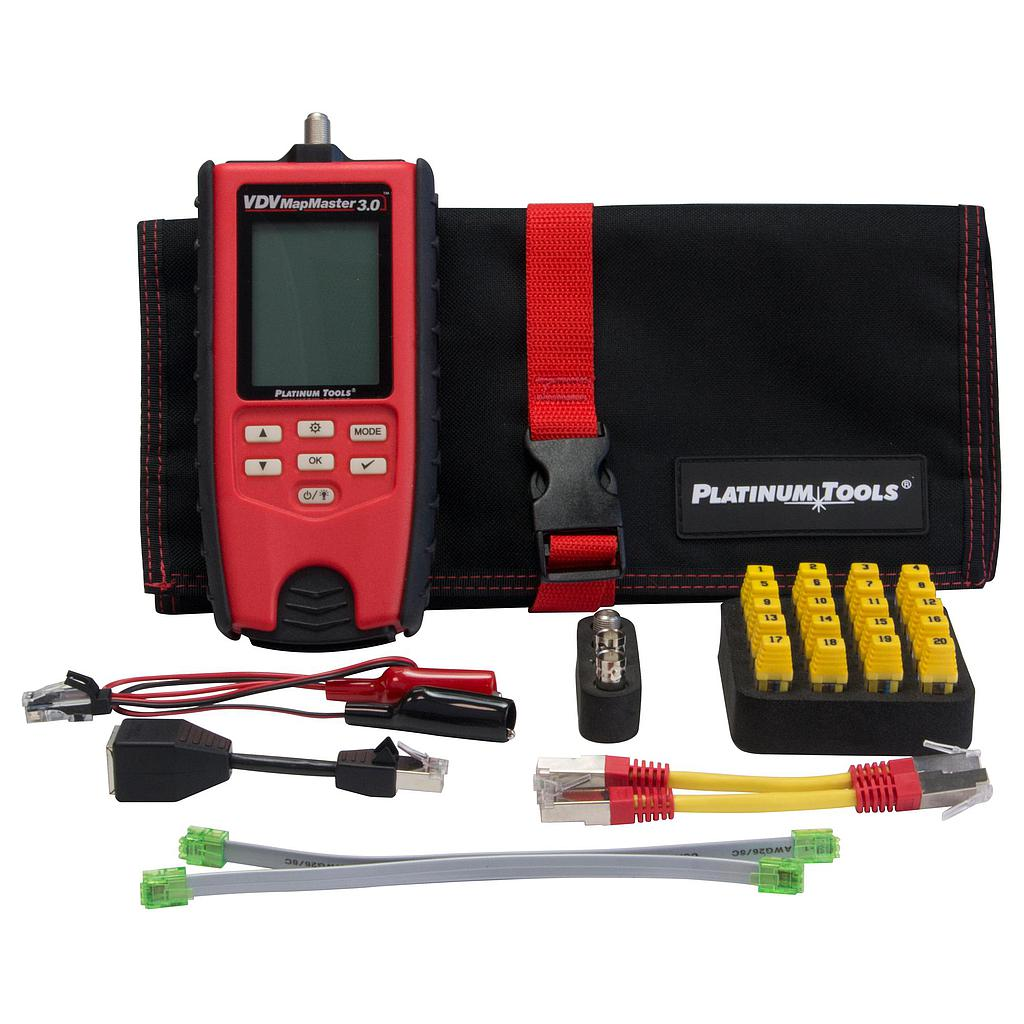 [PTT130K1] PLATINUM TOOLS VDV MAPMASTER 3.0 TEST KIT