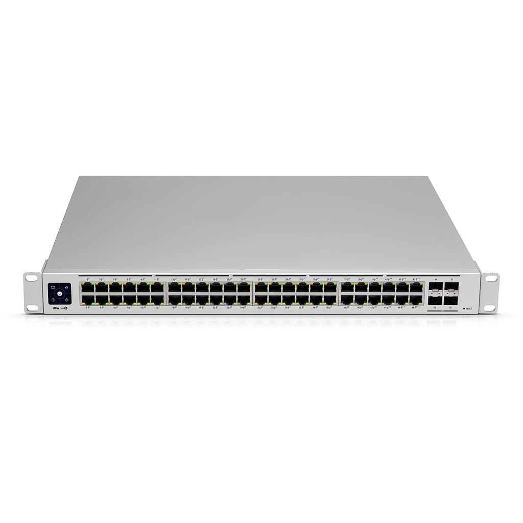 [UBUSWPRO48POE] UBIQUITI UNIFI GEN2 48-PORT 40 POE+ 8 POE++ 4 SFP+ 10-GIG SWITCH (600W)