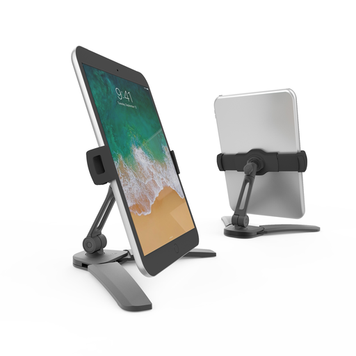 KANTO SINGLE ARM PHONE & TABLET STAND W/ FOLDING LEGS